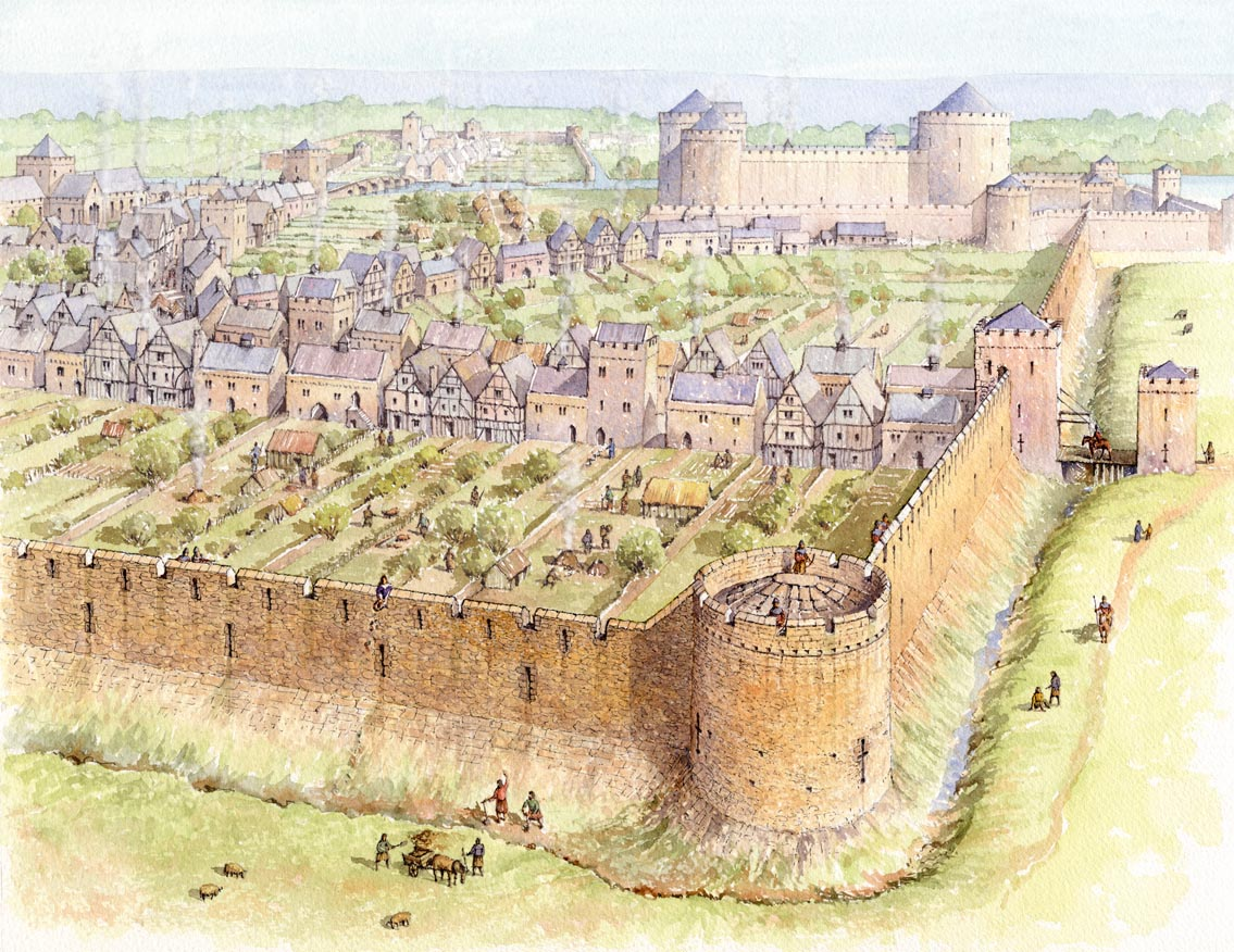 Walled Town | Gaming Maps | Pinterest | Walls, Castles and RPG